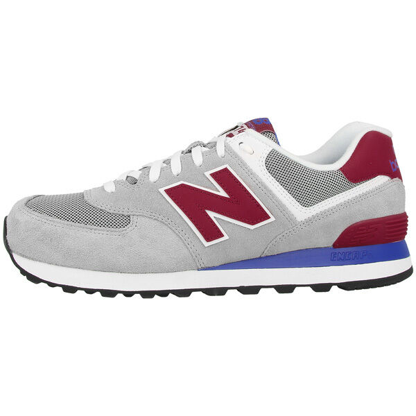 Zapatos promocionales para hombres y mujeres New Balance ML 574 MOX Schuhe grau rot ML574MOX Sneaker grey red M574 373 410
