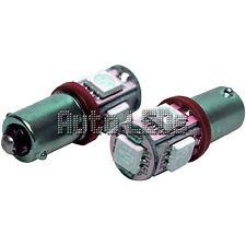 1 Red 5 x 5050 LED BA9s 12v Interior LED Bulb
