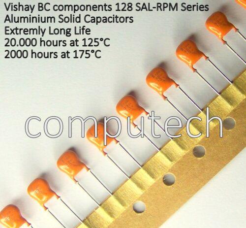 2 pezzi Condensatore 33uF 10V 175°C in alluminio solido Vishay//BC 128 SAL-RPM