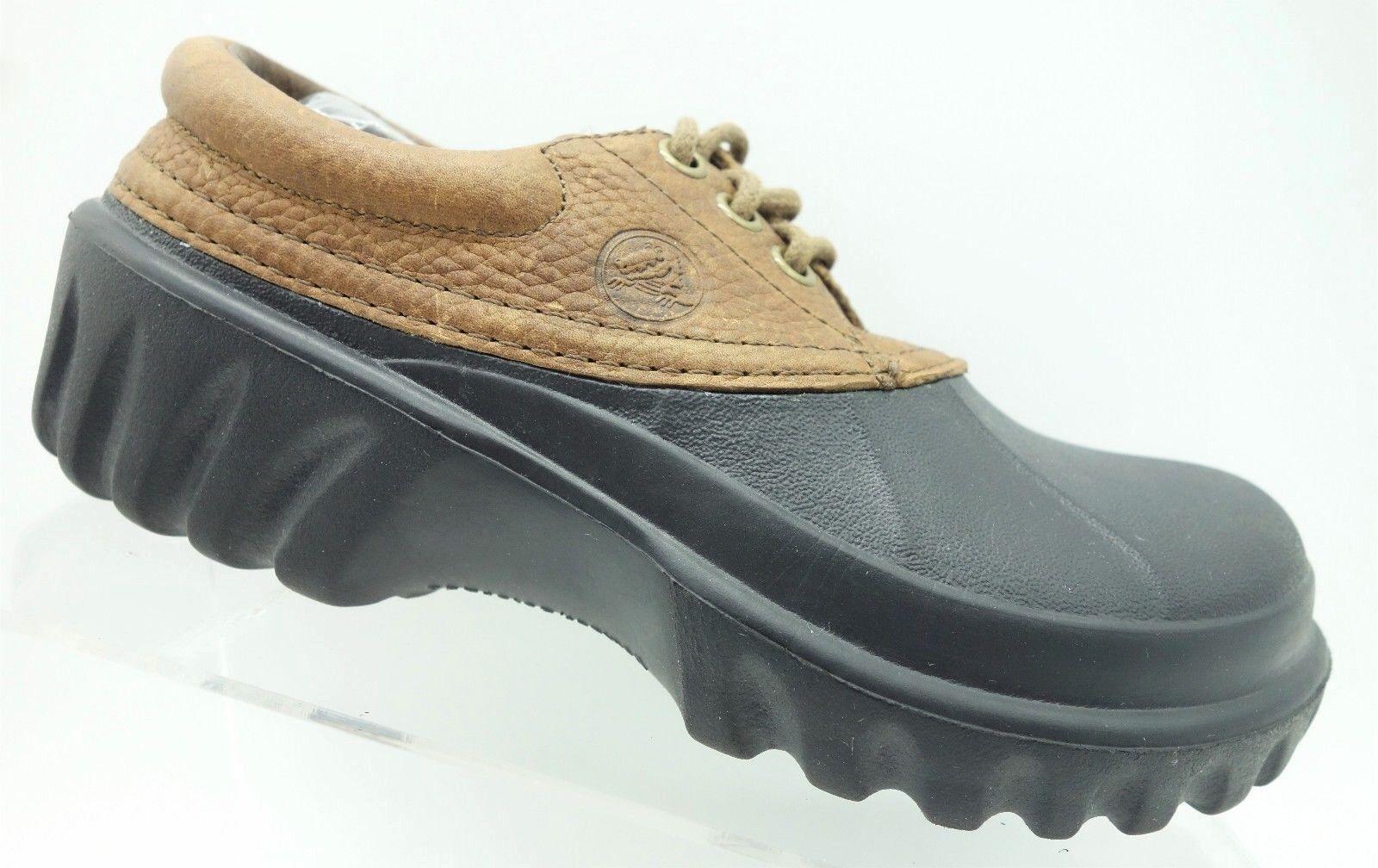 Crocs Islander marróns marróns marróns Cuero con Cordones Pato Cubierta Informales Zapatos de mujer 6  artículos de promoción