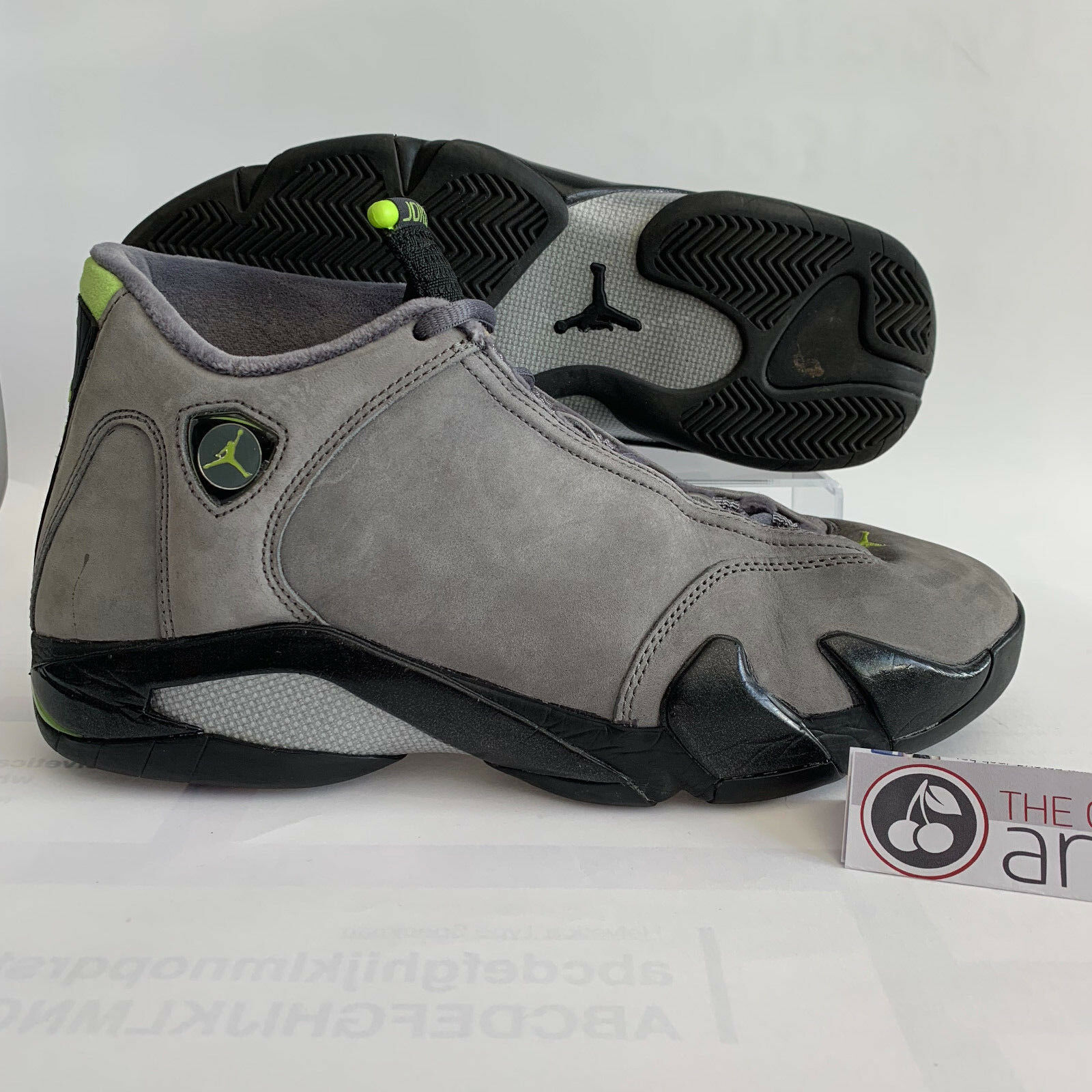 NIKE AIR JORDAN 14 Retro - Größe 10 - 2005  Chartreuse  +FREE Sole Collector