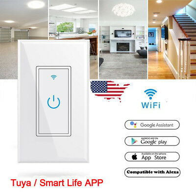 Smart WIFI Light Wall Switch Works w/ Alexa Google Home IFTTT  Tuya/Smartlife App | eBay