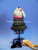 Madame Alexander designer 8 Doll Outfit Black & White 20's-30s Dress_new