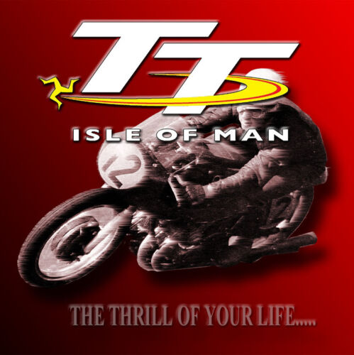 TT RACES METAL JUMBO FRIDGE MAGNET,ENAMELLED FINISH.CLASSIC,MOTORCYCLE