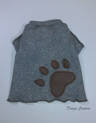 Handsome Grey Paw Male Dog T-Shirt Clothes Size XXXS-Medium