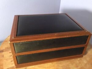 Details about VTG Deco-Tel HIDDEN Secret 007 SPY Telephone IN Wood LEATHER  Case/Box Phone