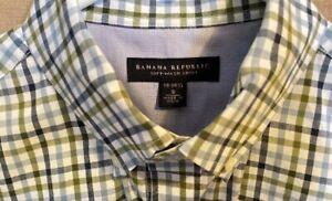 Banana-Republic-Mens-Soft-Wash-Slim-Fit-Button-Down-Shirt-S-Green