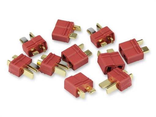 100% De Qualité T Connecteur/deans Femelle-connecteur Set/hochstrom Femelle Plaqué Or 3 Paires-e Vergoldet 3 Paare Aussi Efficacement Qu'Une FéE