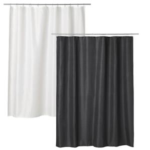 grau Duschabtrennung IKEA SAXÄLVEN Duschvorhang 180x200cm Wannenvorhang weiß