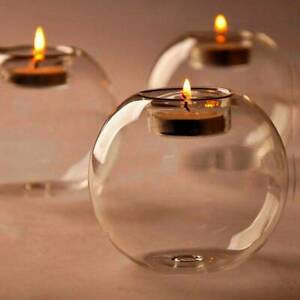 Crystal-Glass-Round-Candle-Tea-Light-Holder-Candlestick-Party-Home-Decor