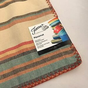 Image Is Loading Fiestaware Tulsa Stripe Harvest Place Mat Fiesta Placemat
