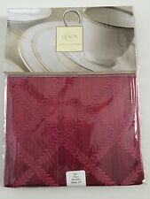 "LENOX LAUREL LEAF 70"" ROUND TABLE CLOTH RED NEW"