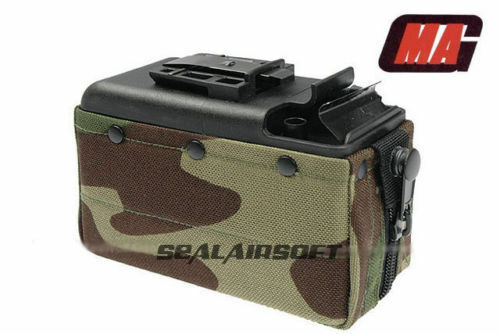 MAG 2500rd Airsoft Toy Drum Pouch Magazine For Classic Army CA   TOP M249 AEG WC