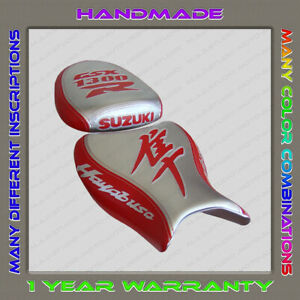 Custom-Silver-Red-Seat-Cover-Suzuki-GSX1300R-Hayabusa-08-Second-Gen