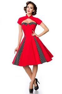 M vintage Rockabilly bretelles Red robe Taille Bolero sans avec Robe Years vqdPY