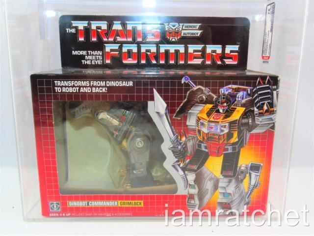 Transformers Original G1 AFA 75 Dinobot Grimlock TM Box Series 1 Art