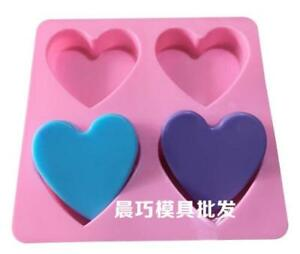 Heart In Heart Soap Mold Cake Mold Silicone Mould For Candy Chocolate