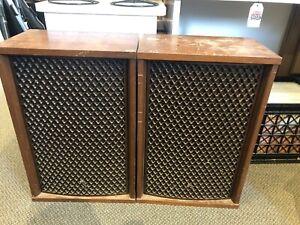 Vintage-Pair-Of-Sansui-SP-2500-Speakers-8-Ohm-80-Watt-3-Way-5-Speakers
