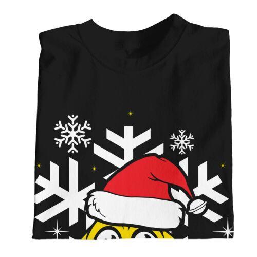 1Tee Enfants Garçons Joyeux Noël Visage Souriant Avec Bonnet de Père Noël T-Shirt