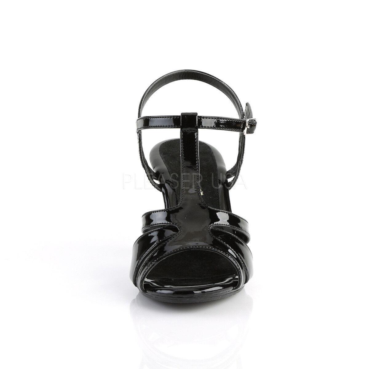 Zapatos casuales salvajes Belle - 322 elegante fabulicious señora chica decorado negro charol tamaño 38