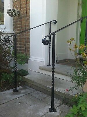Adjustable Wrought Iron Handrail With, Outdoor Handrails For Steps Uk