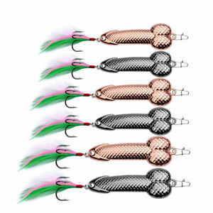 Tackle Wobble Dick VIB 1Pcs Spoon Spinner Pike Lures Fishing Hook