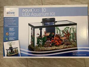 ELIVE-AQUADUO-10GALLON-LED-AQUARIUM-KIT-Fish-Tank