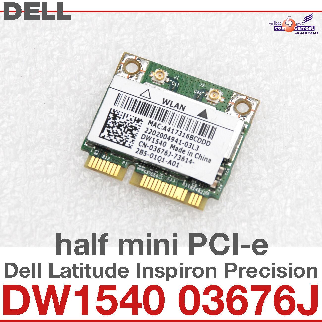 wi-Fi WLAN Wireless Card Network Card For Dell Mini Pci-E DW1540 03676J #D20