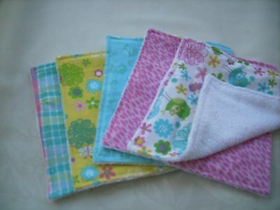 Official Website Handmade Baby Wash Cloths Set Of 5 Baby Towels & Washcloths