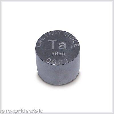 Tantalum metal ingot - one troy ounce - .9995 bullion -- RWMM -- 1 oz