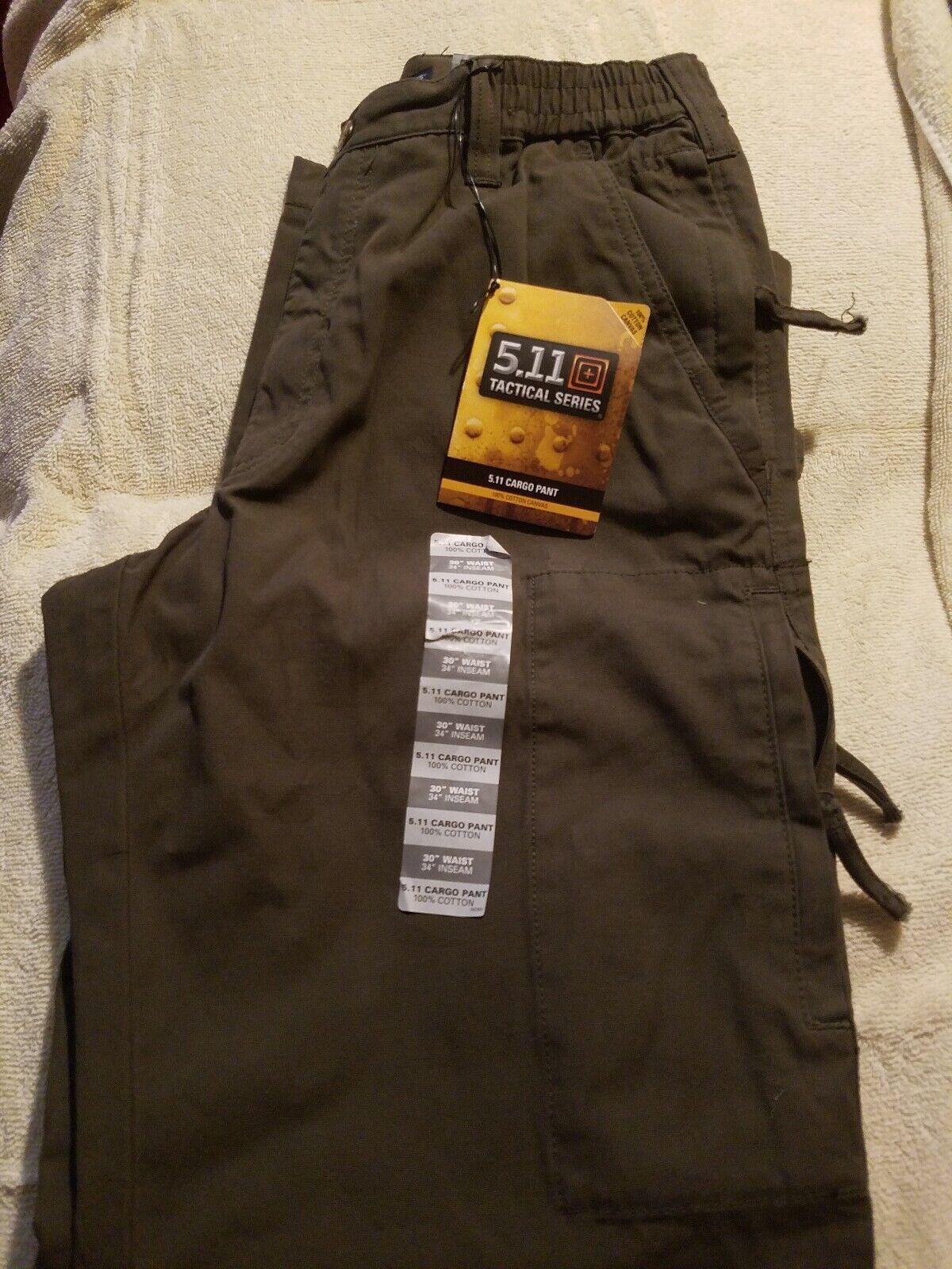 New 5.11 Tactical Series Men's Cargo Pant 30 34
