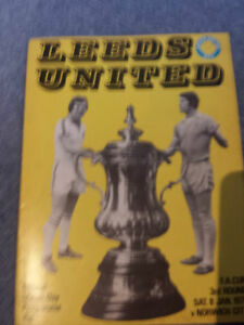 Leeds United v Norwich City 197677 FA Cup - <span itemprop=availableAtOrFrom>Hertfordshire, United Kingdom</span> - Leeds United v Norwich City 197677 FA Cup - Hertfordshire, United Kingdom