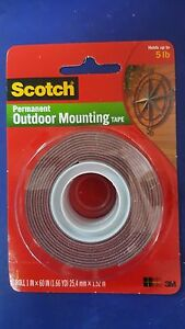 3M Scotch 4011 Permanent Outdoor Mounting Double Sided Tape Holds