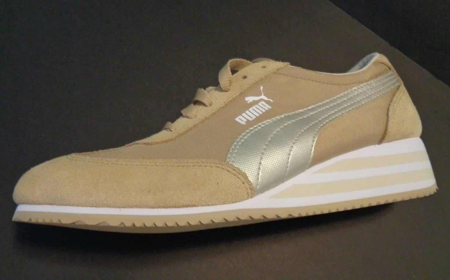 Mint PUMA Ecoortholite  Slant  heel Donna Shoes Size 8 Cream Color