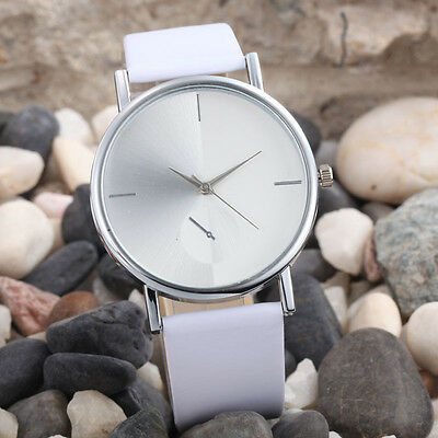 HOT GIFT FOR LOVER Womenes Watch Fashion Design Dial Leather Quartz Wrist Watch