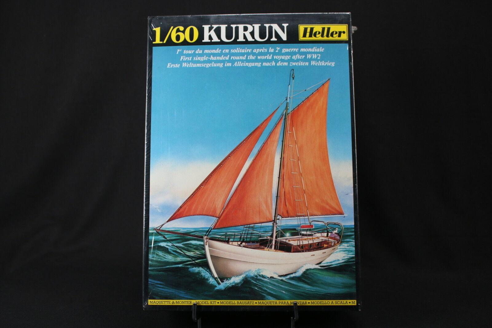 YO002 HELLER 1 60 maquette bateau 614  Kurun 1er tour du monde solitaire