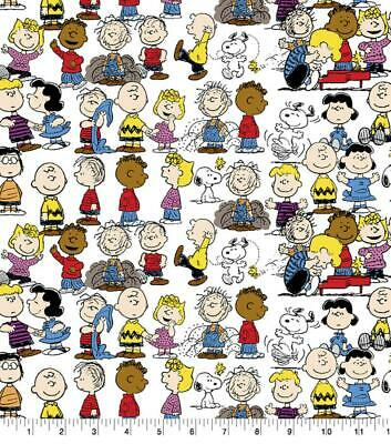 "Peanuts Gang Charlie Brown Snoopy Lucy Linus 100/% Tela De Algodón bthy 18/"" X 44/"""