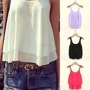 Summer-Sleeveless-Shirt-Women-Chiffon-Blouse-Loose-Casual-Tank-Tops-Vest-S-XL