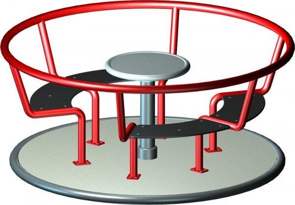 Klingl Karussell aus Metall + Kunststoff DIN 1176 Kindergarten Spielplatz