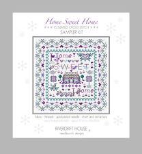 HOME SWEET HOME COUNTED CROSS STITCH KIT SAMPLER KIT RIVERDRIFT HOUSE