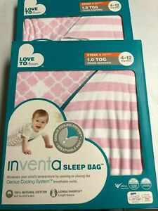 2-Pack-Love-To-Dream-Inventa-Cott-Sleep-Bag-1-TOG-Pink-4-12-Months