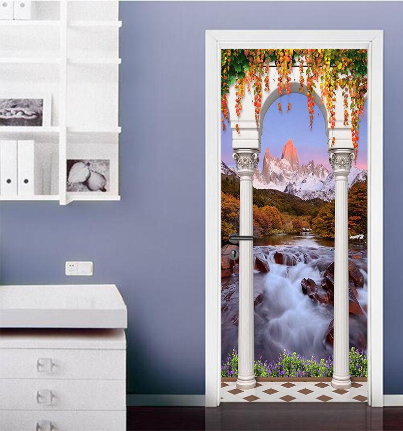 3D Fluss 718 Tür Wandmalerei Wandaufkleber Aufkleber AJ WALLPAPER DE Kyra | Hohe Qualität  | New Style  | Feinbearbeitung