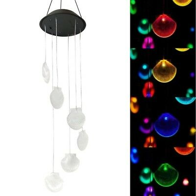 Seashell Led Color Changing Power Solar Wind Chimes Yard Home Garden Decor Us Ebay