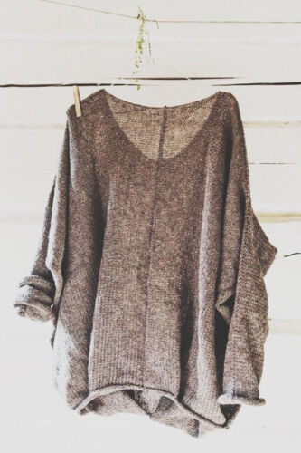Womens Oversized T Shirt Knitting Sweaters Loose Blouse Pullovers Plus Size Tops
