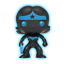 Funko-Justice-League-Silhouette-Glow-in-the-Dark-Pop-Set-GITD-Exclusive-NIB thumbnail 4