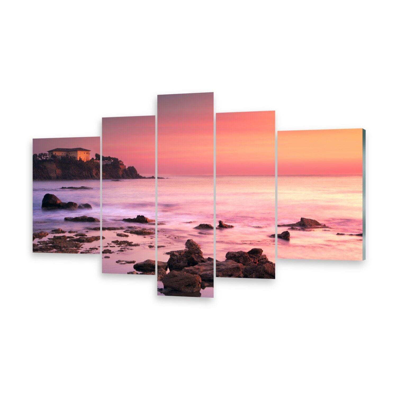 Mehrteilige Bilder Glasbilder Wandbild Castiglioncello