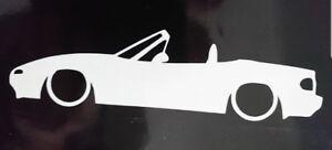 Mazda Mx5 Eunos Mk1 Silhouette Outline Stickers Decal