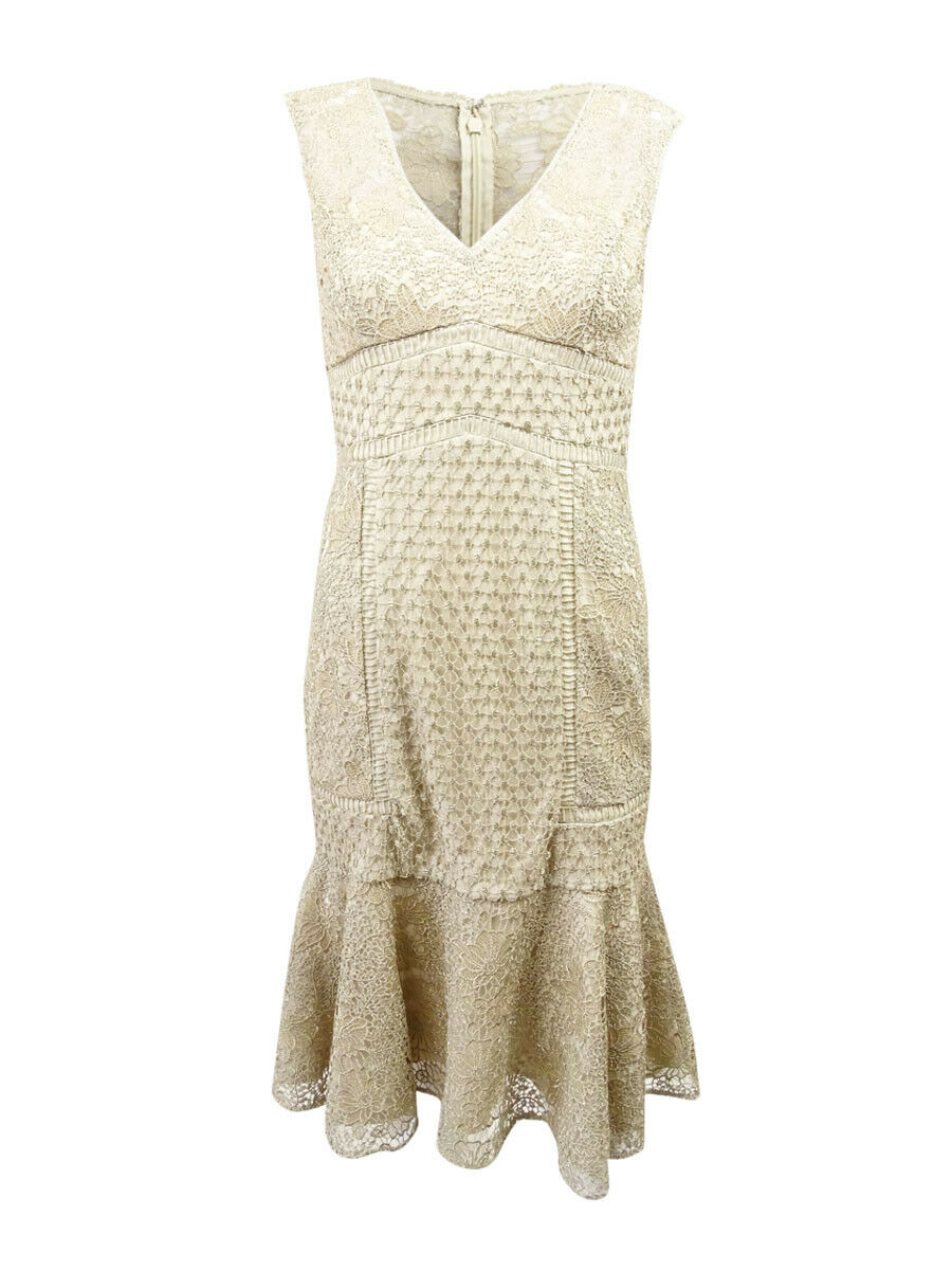 Adrianna Papell Women's Metallic Lace Dress