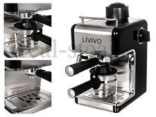 BLACK PROFESSIONAL ELECTRIC ESPRESSO CAPPUCCINO COFFEE MAKER MACHINE HOME OFFICE