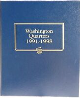 Whitman Classic Album 9123 Washington Quarters 1991-1998 In Package